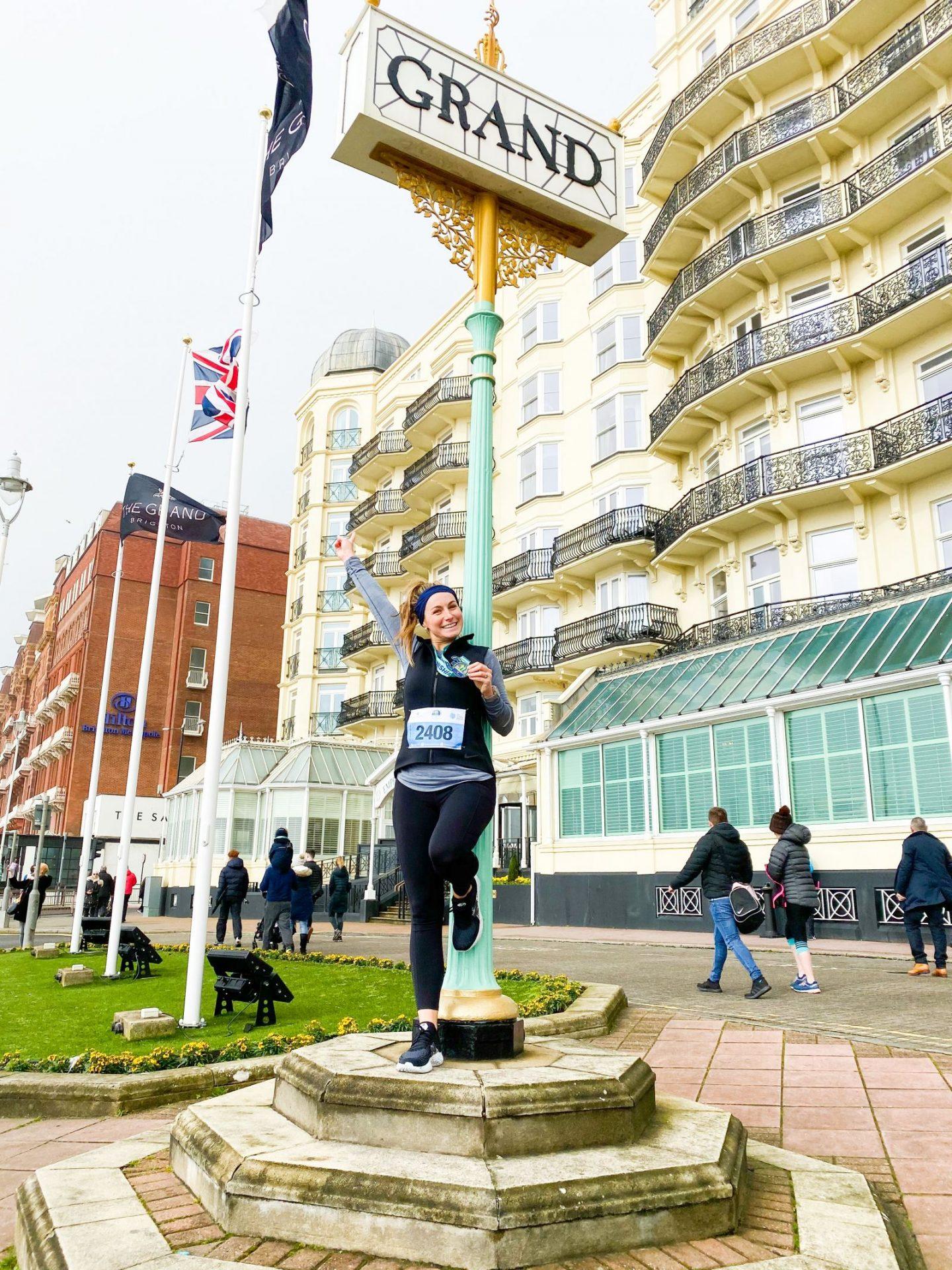 Brighton Half Marathon runner The Grand Hotel Brighton